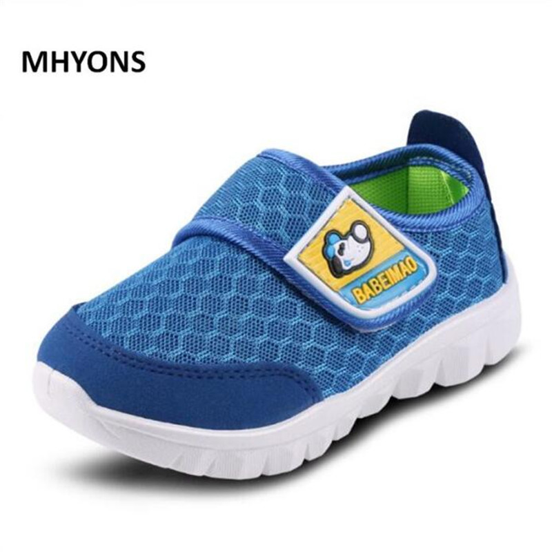 MHYONS 2017 Summer style children mesh shoes girls and boys sport shoes soft bottom kids shoes