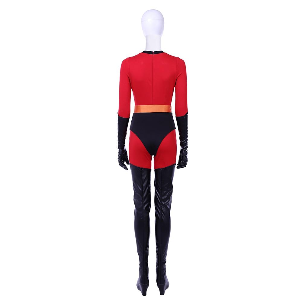 Manluyunxiao Elastigirl Cosplay Helen Parr Halloween Costume For Women The Incredibles 2 Superhero Family Dress Custom Made