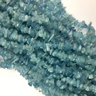 High Quality Natural Genuine Blue Aquamarine Nugget Chip Loose Beads Fit Jewelry 3x8mm 15