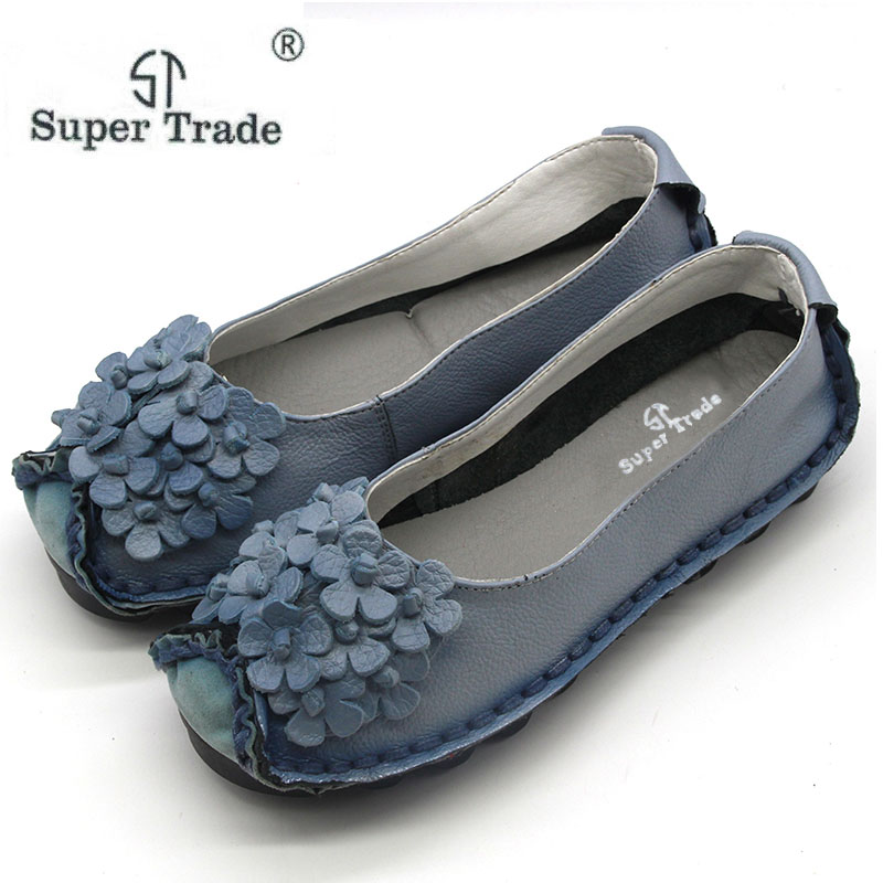 New Summer Shoes Women Genuine Leather Flats Fashion Casual Soft Mother Loafers Moccasins Female Driving Shoe Wholesale ST526 цены онлайн