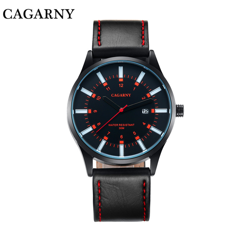 2016 New Arrived Fashion Casual Men Women Promotion Leather Strap Simple Business Calendar Wristwatches With Japan Movement