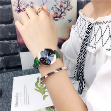 2019 Hot Sale Waterproof Quartz Watch Korea Style Simple Trendy Gemertric Mirror High Quality Real Rope Strap Wirst for Women