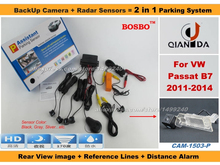 For VolksWagen VW Passat B7 2011-2014 – Car Parking Sensor+ Rear View Camera 2in1 Assistance System – 4 Radars