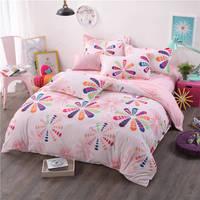 pink flower bed sheet set fruit lemon watermelon bedding set 3/4pc girl kids duvet cover single double queen king size bedspread