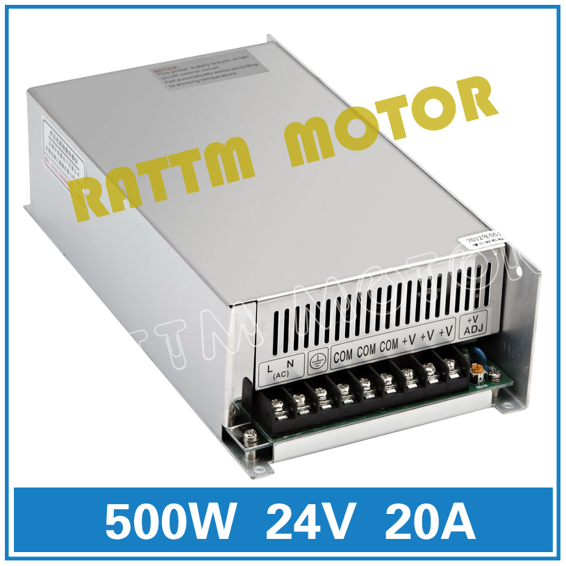 500W Switch Power supply 500W 12V/ 24V/36V/48V DC power CNC Router Single Output Foaming Mill Cut Laser Engraver Plasma 20A