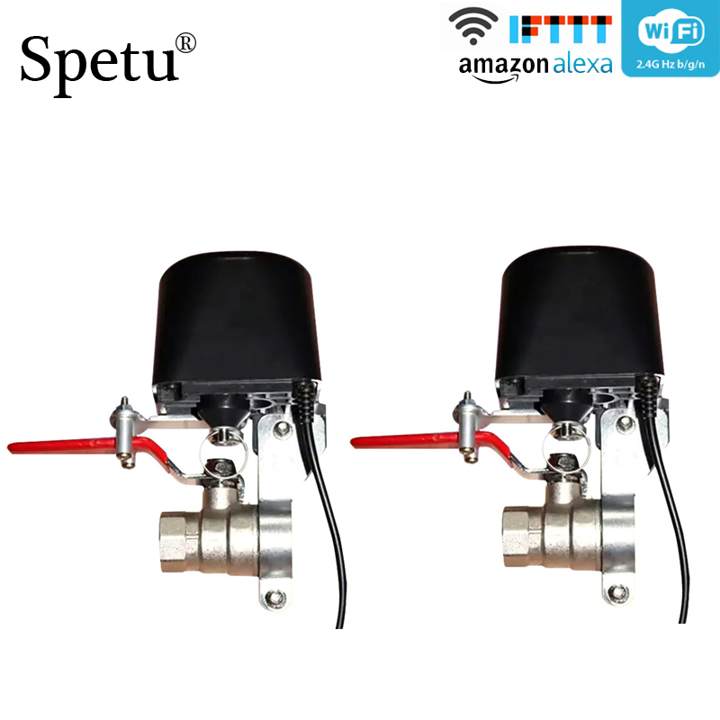 Spetu 2pcs/lot Smart Garden Water Shut Off Timers WIFI Irrigation Controller Watering System Automatic Gas Valve Home Automation