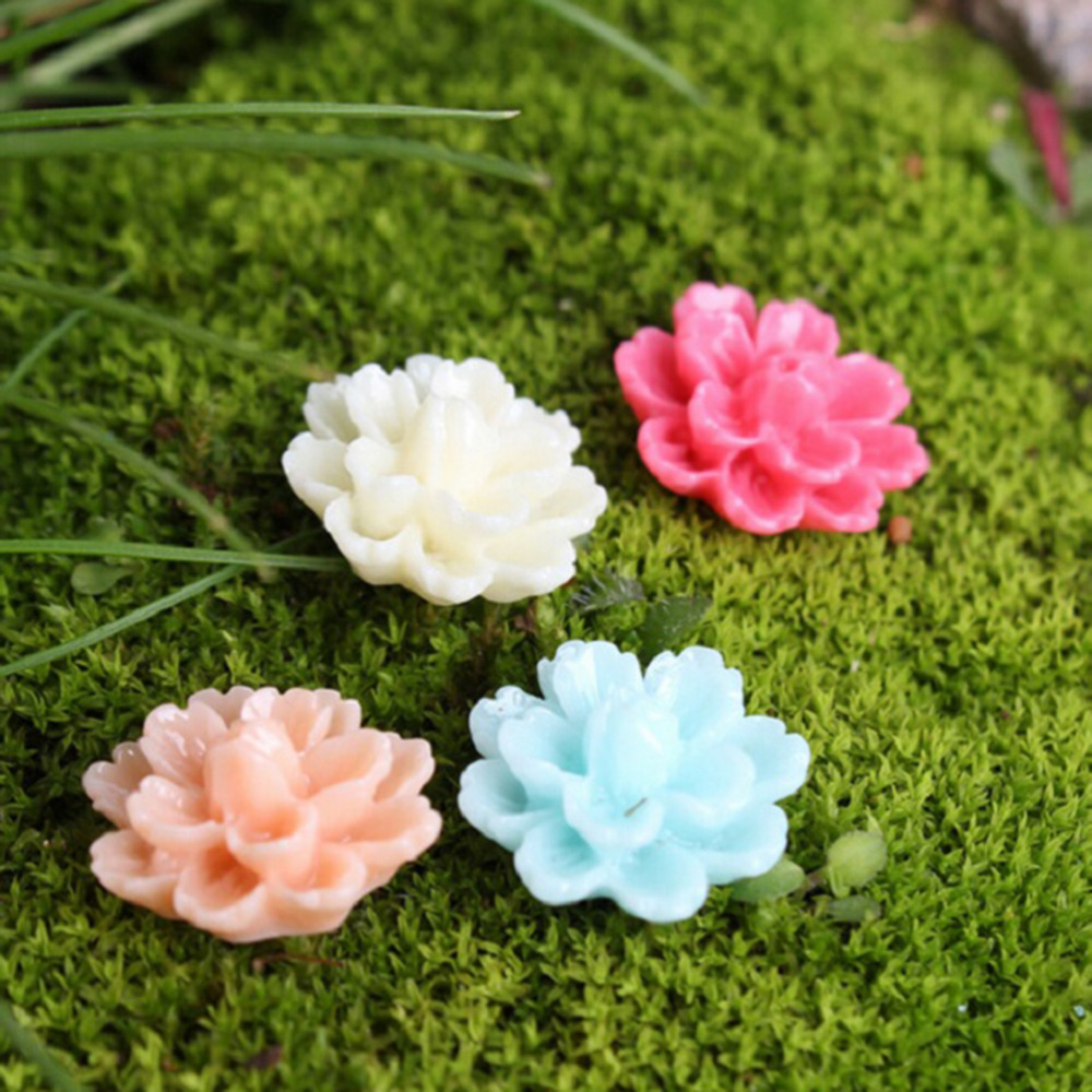 10Pcs Camellia Rose Flower Miniature Fairy Garden Home Houses ...
