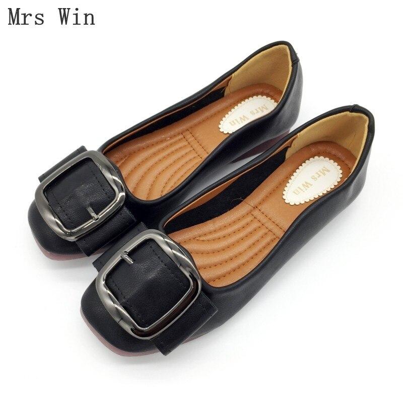 noir Appartements Simples Marque Glisser 2018 gris Chaussures Profonde  Femmes Plus 42 Taille Automne Peu Beige ... b186beb57a37