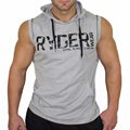 Brand Men Cotton Hoodie Sweatshirts fitness clothes bodybuilding tank top men Sleeveless Tees Shirt Casual golds vest