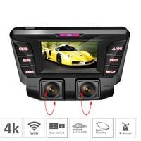4K Hidden Wifi Car DVR Camera Novatek NT96660 Dash Cam Dual Lens SONY IMX323 Car Video Recorder Dual Full 1080P HDMI