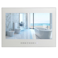 Souria 32 Magic Mirror Touch Button Flat Glass Home Used HD LED Shower Wall Mount Screen