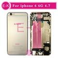 Высокое качество Полный Полный Ближний Рамка Шасси Для iphone 6 6g корпус в Сборе со Шлейфом Крышка Бесплатный Заказ IMEI + Инструменты