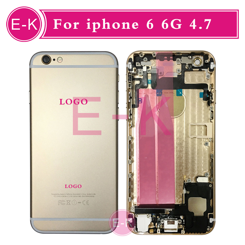 High quality Complete Full Middle Frame Chassis For iPhone 6 6G Housing Assembly with Flex Cable