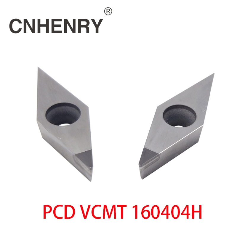 Free Shipping 2 PCS PCD Turning Inserts VCMT 160404 CNC PCD Diamond Inserts For Lathe Tools MVJNR/ MVVNN / MVUNR