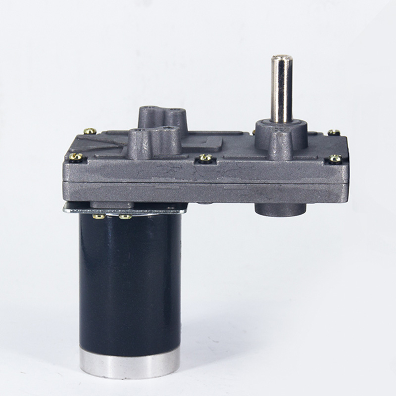 цена на ZHENGKE ZGB102FEE DC 12V 24V motor 10/30/70/120RPM Worm gear motor large Torque Output Shaft