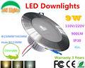 4in. 9 W regulável LED teto rebaixado grade Downlights shopping lâmpada 85-265VAC RoHS CE iluminação interior Ultra brilhante 4 PCs muito