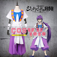 Magi: The Labyrinth of Magic Sinbad Cosplay Costume Halloween Uniform Outfit Shirt+Coat+Apron+Pants Custom made