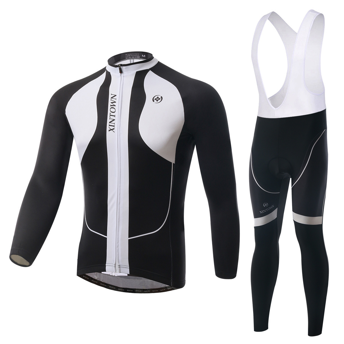 BOODUN Loong As White Riding Clothes Straps Long Sleeve Suit Bicycle Serve Catch Down Windbreak Keep Warm Function Underwear