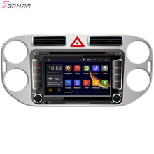 "Topnavi 7"" Quad Core Android 6.0 Car DVD Play for VW Tiguan 2013- Autoradio GPS Navigation Audio Stereo"