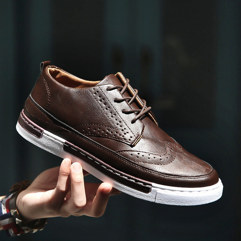 Men Casual Shoes Breathable Leather Shoes Men Sneakers Zapatos De Hombre Laca Up Ceepers Male Footwear Moccasins Chaussure Homme