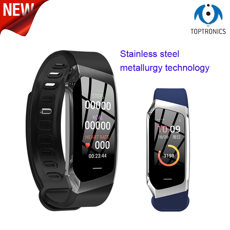 Hot Smart Band Color Screen Fitness Tracker Blood Pressure Watch Heart Rate Monitor Bracelet VS hua wei band honor A2 3 fitbits
