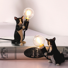 Postmodern Art  Resin Animal Cat Table Lamp Cute Simple Minimalist LED Lights Home Decor Desk Lights Bedside LampLiving Room nestle каша безмолочная рисовая гипоаллергенная 200 г