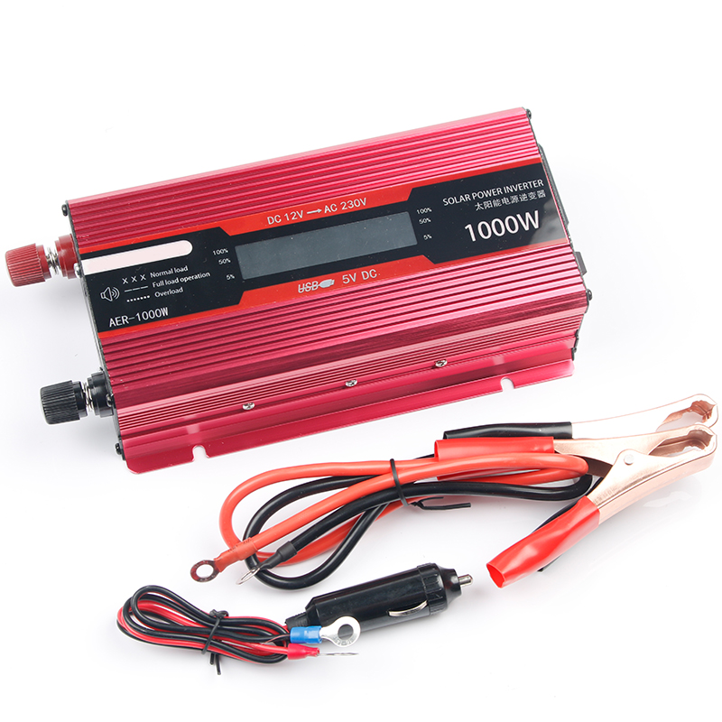 12V 220V <font><b>Inverter</b></font> for Car <font><b>Inverter</b></font> Voltage Transformer Converter <font><b>Power</b></font> <font><b>Inverter</b></font> 12 220 2000W <font><b>1000W</b></font> Charger Display Solar Adapter image