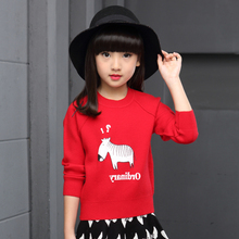 Brands Baby Girls Sweaters 2017 New Knitted Tops Kids Cartoon Little Ponny Sweater For Girls 2