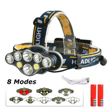 KARRONG 20000lm COB LED Headlight +T6 Headlamp 8-Mode USB Camping Torch 5/6/7/8 for 18650 Battery Waterproof Camp Flashlight