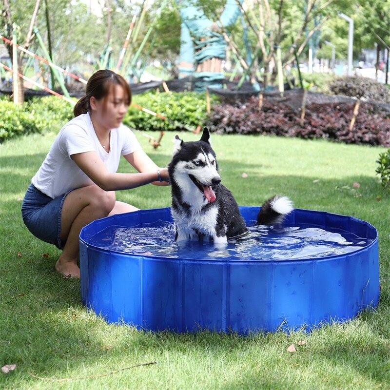 Pliable Pet chien natation pataugeoire Portable refroidissement bain baignoire pour enfants ou enfants jouer été Cool maison pour chien chat