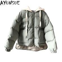 AYUNSUE зимняя куртка и пальто для женщин, теплое короткое пуховое пальто с хлопковой подкладкой, новинка, повседневная Корейская парка LX2409