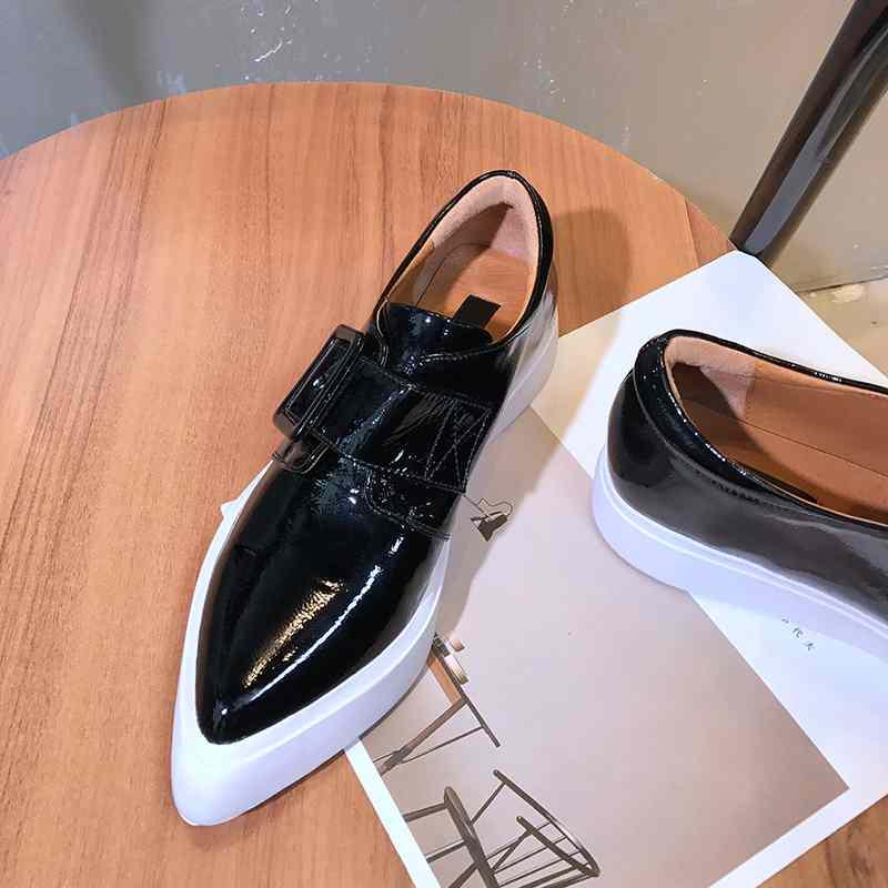Superstar Krazing Pointu Cuir Carré Métal L18 En Chaussures Vulcanisé Femmes Lacets Sans Espadrilles Véritable Confortables Bout jaune Boucle Noir Oriental Pot ExIvYfrqE