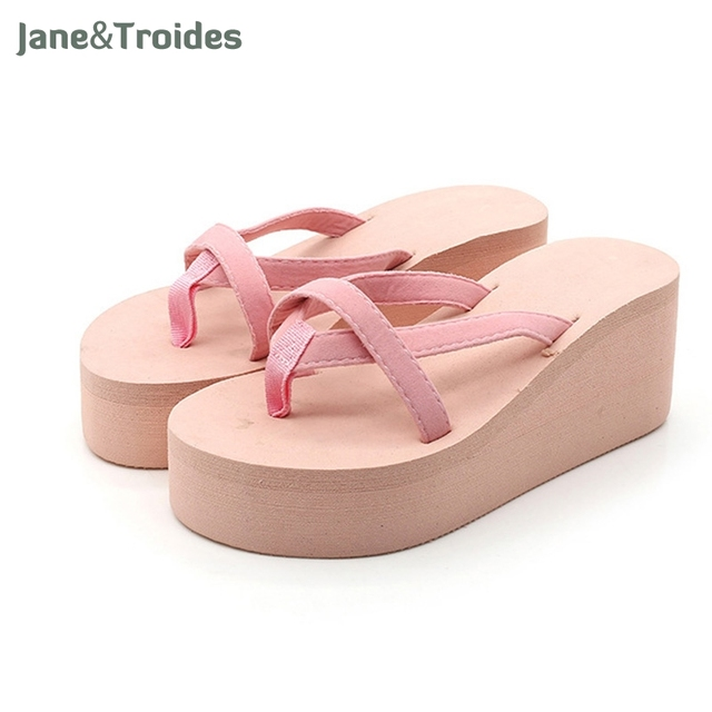 3f8f1444a08 Summer Fashion women shoes sandalet Knotbow Sandals Shoes Beach Flat Wedges  flip flops womens platform flip flops