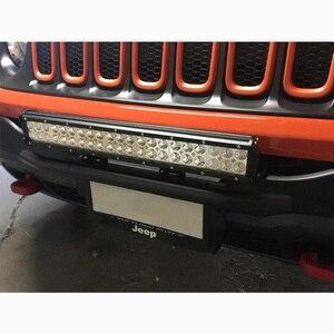 Image 5 - Barra de luz led combo de 20 pulgadas y 126w + soporte de barra parachoques matrícula de parachoques delantero para camiones todoterreno 4WD 4x4 tractor Coche