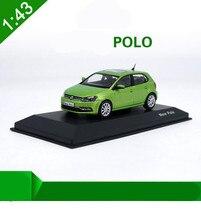 Modele samochodów ze stopów w skali 1:43, wysoka symulacja nowy samochodzik zabawka Polo, metalowe diecasts, kolekcja pojazdy zabawkowe, bezpłatna wysyłka