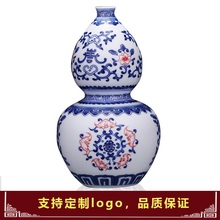 Jingdezhen ceramic red brush washer nelumbo nucifera basin narcissus home