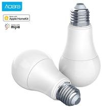 Умная лампа Aqara, 9 Вт, E27, 2700K 6500K, 806lum, светодиодный светильник белого цвета для работы дома и приложения для умного дома