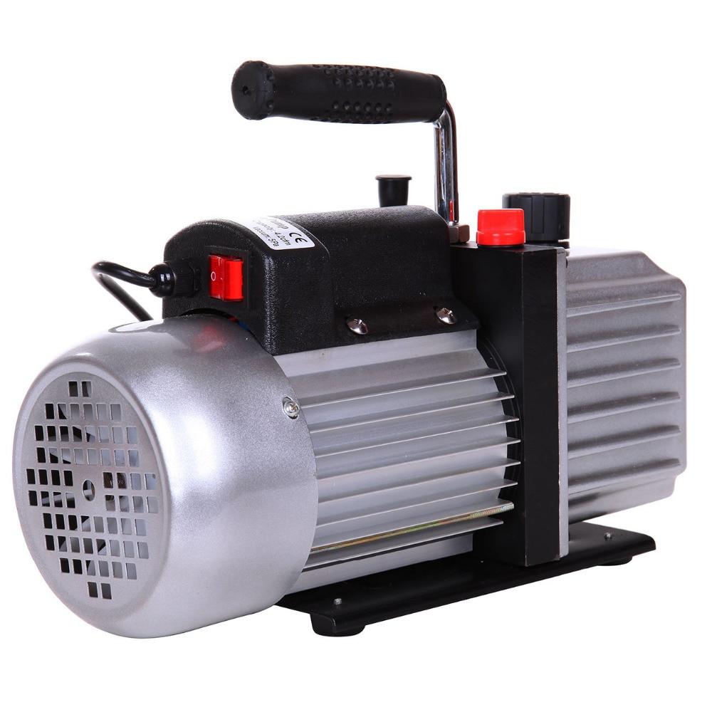 4.5CFM 1/3 HP single Stage Vacuum Pump Air Conditioning Refrigeration Vacuum pump Air Conditioning Cooling 5Pa 8.5kg EU Plug