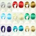32 cm Short Straight Wigs Cosplay Wigs Synthetic Hair Bob Blonde Full Face Wig High Quality