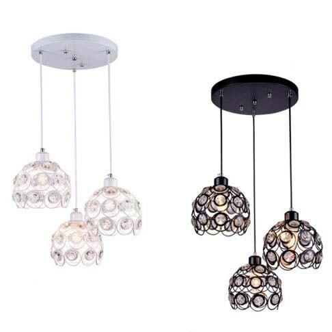 Black/white modern crystal ceiling lamp living room dining room cafe decorative lighting LED ceiling light fixture E27