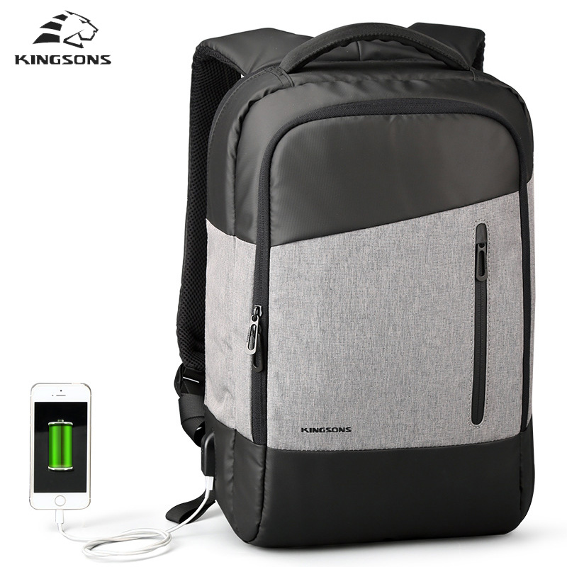 Kingsons Business backpacks Daily Casual Travel Backpack Large Capacity Backpack waterproof  15.6 Inch Laptop Bag рюкзаки zipit рюкзак shell backpacks