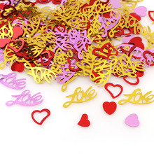 Mix Color Love Heart Confetti Sequins Valentine's Day Decor For Home Party Decor/Wedding Throw Confetti Decoration 15g