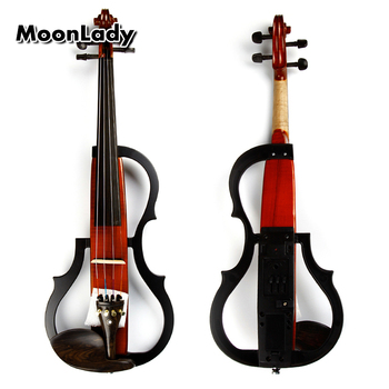 4/4 Wood Electric Violin Black and Brown Musical Instruments Stringed Instrument Suitable for Beginners and Music Amateurs o sevcík violin school for beginners op 6