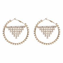 Qiaose Brand New Rhinestone Hoop Earrings for Women Fashion Jewelry Boho  Maxi Collection Earrings Accessories( 3561aae77486