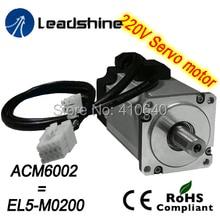 220 В серводвигатель ПЕРЕМЕННОГО ТОКА ACM6002L2H-A0-B (EL5-M0200) NEMA 24 кадров макс 5000 об./мин. и 2.2 Нм крутящего момента использования вместе с L5-750 drive