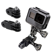 Prolong Extension Connector adapter 3-way Pivot Arm Bicycle Helmet Mount Extender for GoPro Hero 5/4/3+/3/2/1 For SJCAM
