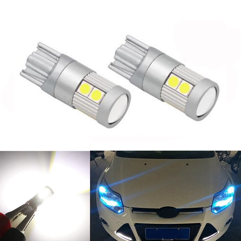 2x T10 W5W LED Wedge Light Marker Lamps Bulb For Ford Focus 2 1 Fiesta Mondeo 4 3 Transit Fusion Kuga Ranger <font><b>Mustang</b></font> KA S-max image