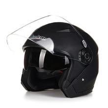 Шлем мотоцикла открытым лицом capacete para motocicleta cascos para moto racing Jiekai мотоцикл старинные шлемы с двумя объективами