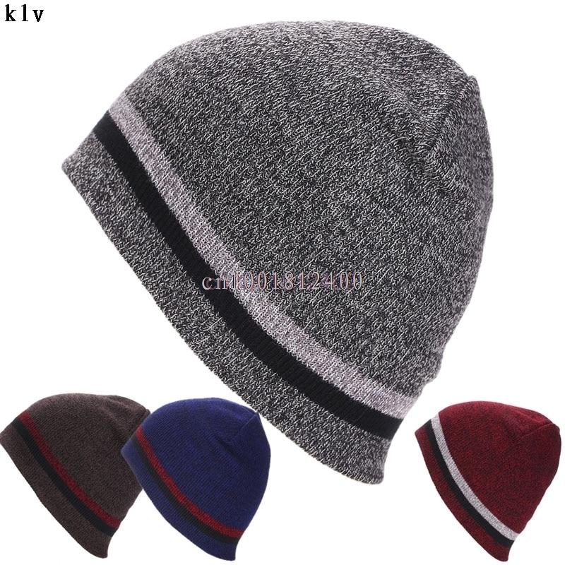 Winter hat Men Women Knit Beanie Reversible Skull Chunky Baggy Cap Warm Hat Unisex W033 HOT SALE winter men women knit beanie reversible skull chunky baggy cap warm unisex hat