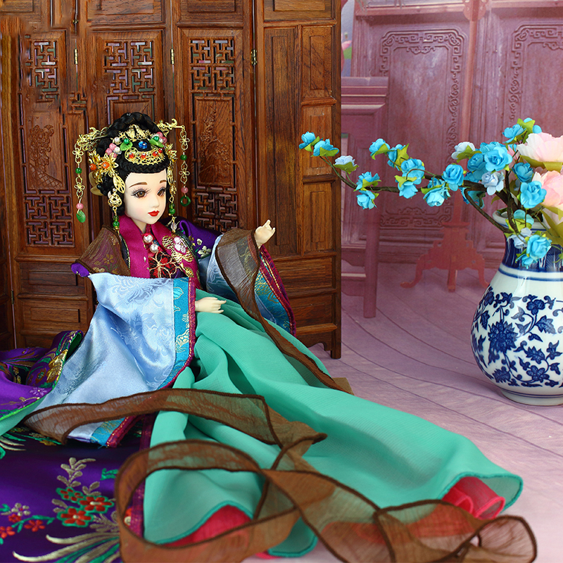 High-end Traditional Chinese Dolls Decoration BJD Dolls With Exquisite Makeup 3D Realistic Eyes Collector